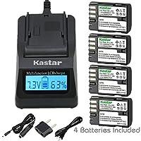 Kastar超高速充電器( 3x Faster )キットand d-li90バッテリー( 4-パック) Work with PENTAX K - 01K - 3K - 5K-5ii k-5iis K - 7645d 645zカメラ
