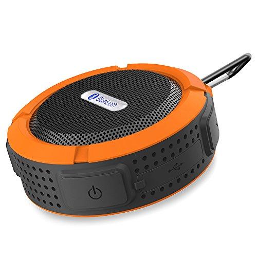 Patech Bluetooth 3.0 ワイヤレススピーカー 内蔵マイク付 吸盤式対応 防水仕様 (オレンジ)