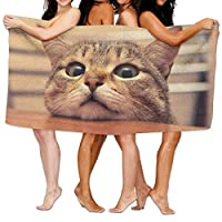 80cm*130cm 大判 速乾吸水 ふわふわ バスタオル キュート猫 ビッグ フェイス ホテルスタイル 家庭用 タオル