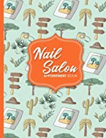 Nail Salon Appointment Book: 6 Columns Appointment List, Appointment Scheduling Book, Easy Appointment Book, Cute Safari Wild Animals Cover