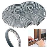 Sumnacon 2個セット 隙間テープ 窓 ドア 防風 防音 防水 毛足 5m グレー