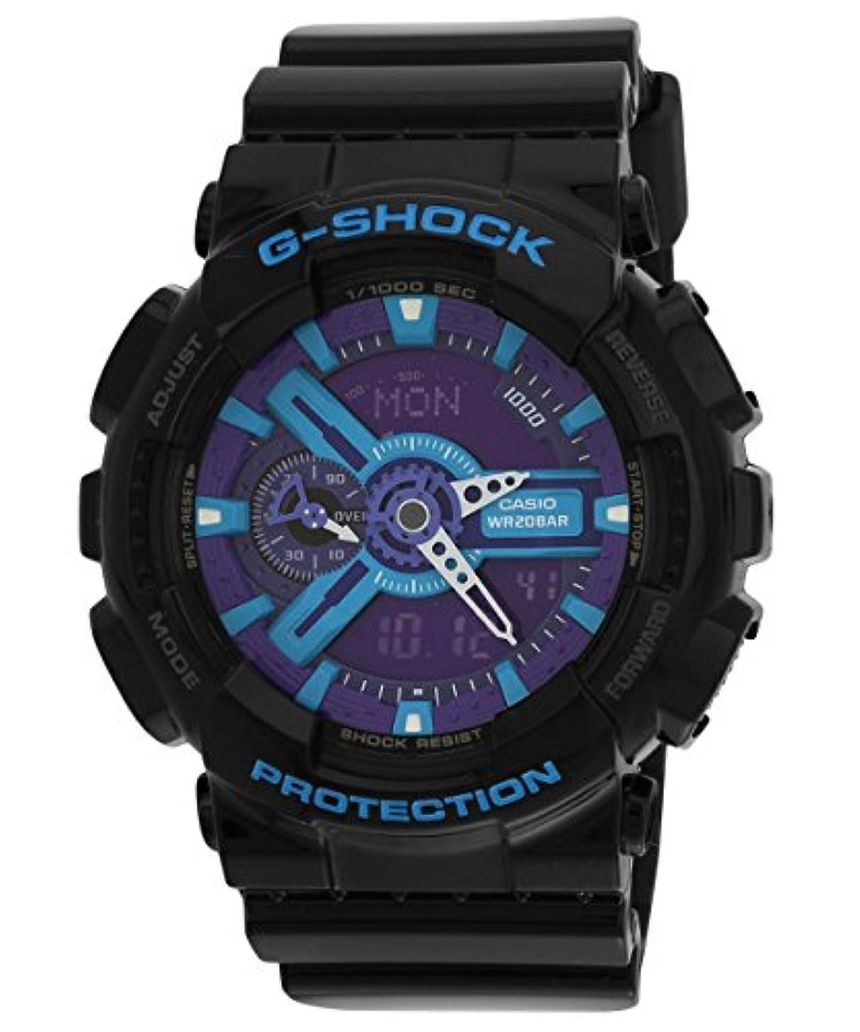 運河ゴルフ土砂降りCASIO G-SHOCK (カシオ Gショック) 腕時計 メンズ アナデジモデル GA-110HC-1A Hyper Colors ブラック×ブルー 海外モデル 逆輸入品 [並行輸入品]