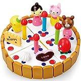 SJBH 木のおもちゃ ケーキあもちゃ おままごとの知育玩具 子供お誕生日のプレゼント ケーキごっこ