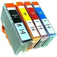 HP ヒューレット・パッカード HP178(BK/C/M/Y) 【4色マルチパック】 Hyper互換インクカートリッジ 【nasia+製】 (最新型ICチップ/残量検知/製品1年保証付き) 178