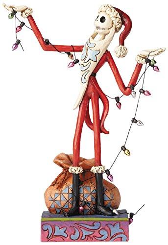 ディズニー・トラディションズ NBC ナイトメア・ビフォア・クリスマス サンタジャック クリスマスライト スタチュー