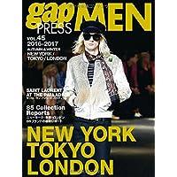 2016-2017 A/W gap PRESS MEN vol.45 NEW YORK/TOKYO/LONDON (gap PRESS Collections)