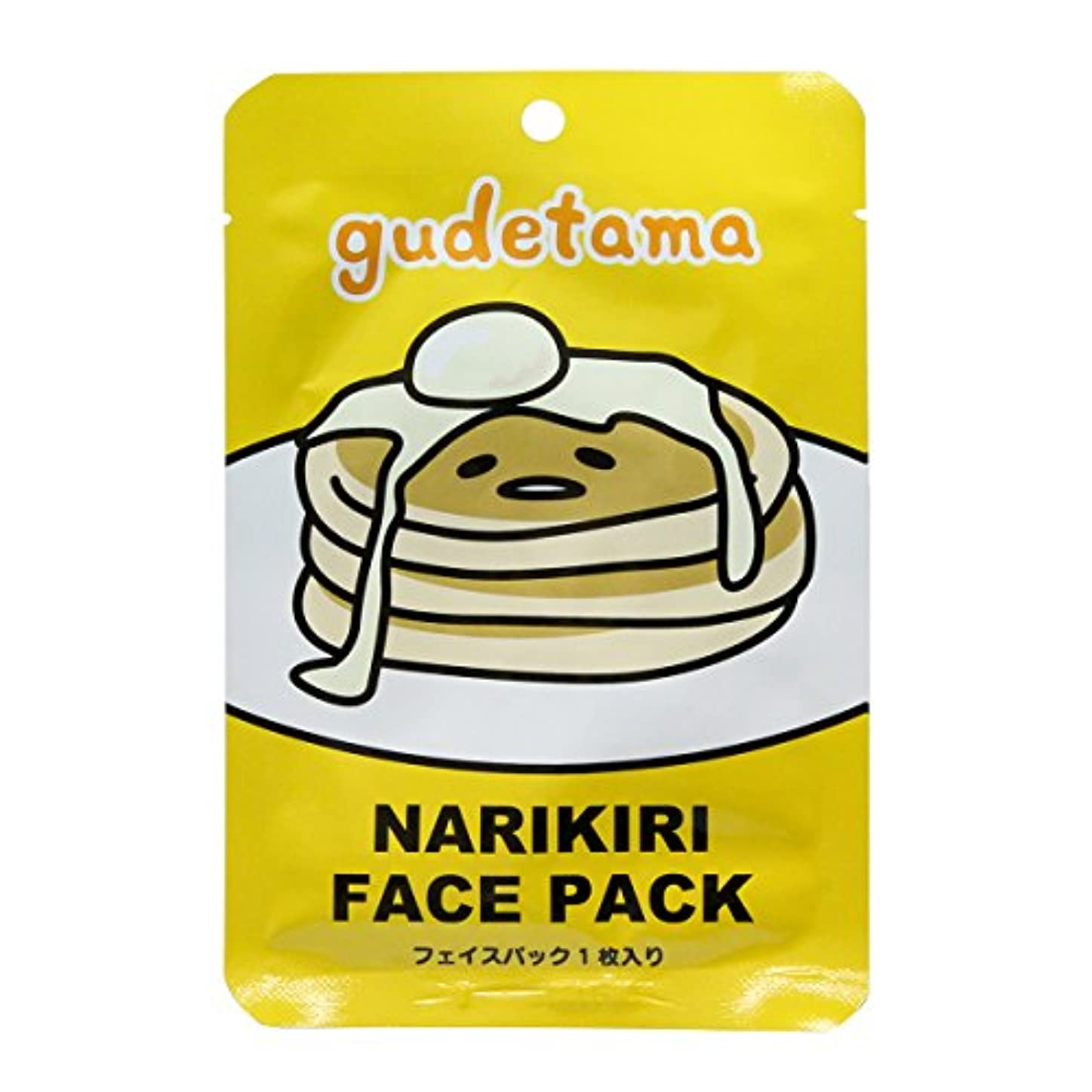ぐでたま なりきりフェイスパック パンケーキ バニラの香り (20mL × 1枚入)