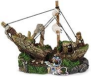 Kazoo Shipwreck Ornament with Treasure and Sail, Small