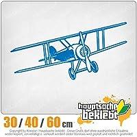 KIWISTAR - Double decker aircraft 15色 - ネオン+クロム! ステッカービニールオートバイ