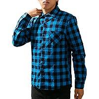 [meryueru(メリュエル)] カジュアル 長袖 クラシック チェックシャツ トップス ネルシャツ トップス 春 秋 メンズ