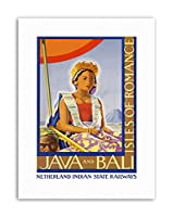 Java Bali Indonesia Romance Native Dress Dutch Travel Canvas Art Print