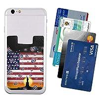 携帯ウォレット ポケット カードホルダースマートフォン カードポケッ The Flag Of The United States 便利 携帯電話カードパッケージ2.4 * 3.5in
