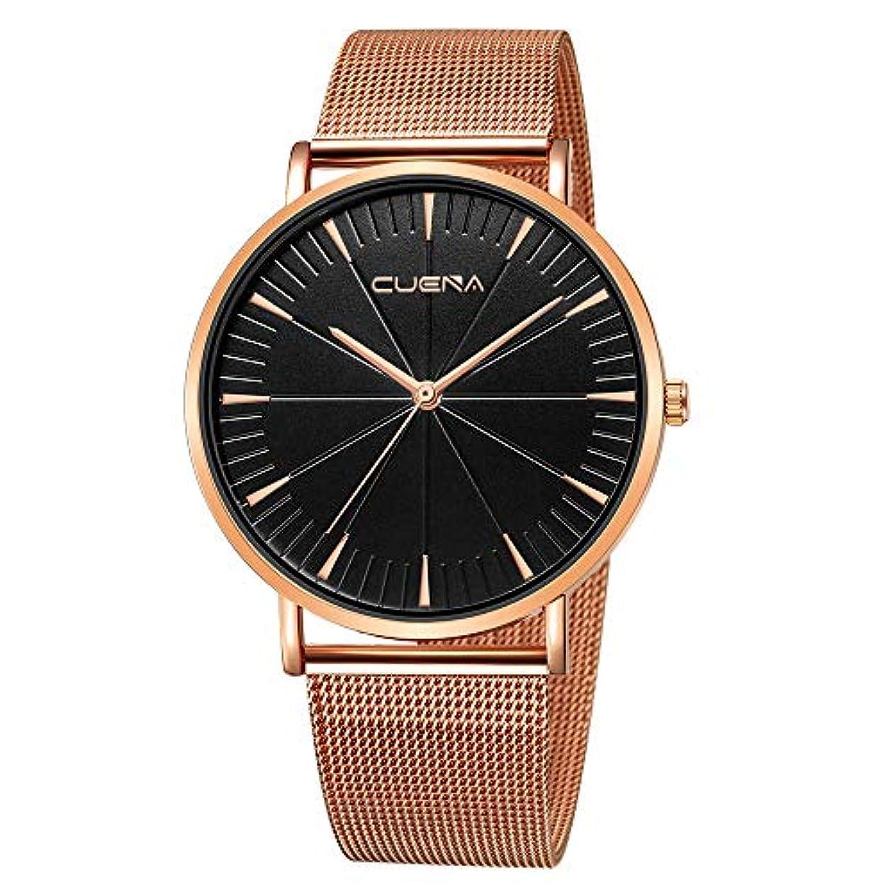 組み立てる単位弾力性のあるRencaifeinimo2019年最新 紳士用 超薄型 男女兼用 多機能 腕時計 人気 平日 ファッション メンズファッションミリタリーステンレススチールアナログスポーツクォーツビジネス腕時計