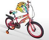 Cyfie そんごくう 子供用自転車 ヘルメット付き 泥除け付き 補助輪付き 自転車ベル付き 滑り止めハンドル 全2サイズ (16インチ)