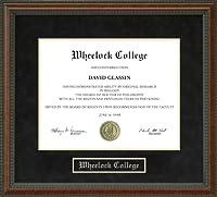 大学卒業証書Wheelockフレーム ma-wheelock-91-burl