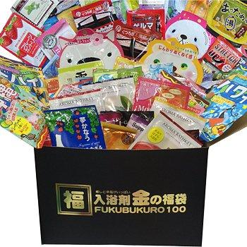 金の! 【入浴剤 福袋】100個  安心の日本製!入浴剤福袋/入浴剤 福袋/ギフト