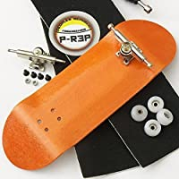 Peoples Republic Orange 32mm n.EXT Complete Wooden Fingerboard w CNC Lathed Bearing Wheels by Broken Knuckle Fingerboards [並行輸入品]