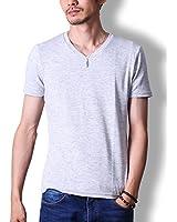 FTELA(フテラ) メンズ シャツ Tシャツ Vネック v 半袖 定番 春 夏 オートミール L