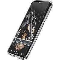 Samsung Galaxy S7 Edge アルミ バンパー ケース、Uniqe 金属フレーム Docomo S7Edge 用 航空宇宙 アルミ合金 枠ケース EVA緩衝綿付き 保護カバー (Galaxy S7 Edge, グレー)