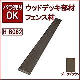 ウッドデッキ 人工木材 人工木 部材 樹脂ウッドデッキ フェンス材 70×16×2000mm【H-B062】【2色選択可】 (ダークブラウン)