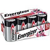 Energizer D8 Cell Batteries, Max Alkaline D Battery Size, 8 Count (Packaging may vary)