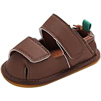 Weixinbuy Infant Baby Boy's Closed Toe Rubber Sole Anti Slip Summer Sandal Shoes