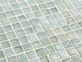 (アーバンイリジウム) アーバンライム(15mm角 緑 ガラスモザイクタイルシート)小口出荷【1シート】