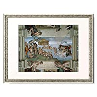 ミケランジェロ・ブオナローティ Michelangelo di Lodovico Buonarroti Simoni 「システィーナ礼拝堂天井画(大洪水) Sistine Chapel Ceiling: The Flood. 1508-12」 額装アート作品