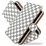 [KEIO ブランド 正規品] Touch Diamond S21HT ケース 手帳型 チェック S21HT 手帳型ケース チェック柄 Touch カバー Diamond カバー S21HT チェック タッチ ケース タッチダイアモンド ケース ダイアモンド ケース S ケース 21 ケース HT ケース S21 ケース 21HT シンプル カラー ittnチェック柄白灰t0311