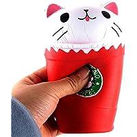 ftxj 14 cmカットカプチーノコーヒーカップ猫香りつきSquishy Slow Rising Squeeze ToyコレクションCureギフト 14*8*8cm レッド FTXJ -1860512