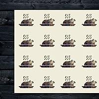 Turkey 感謝祭 食事サプライ クラフトステッカー 44枚 1.5インチ スクラップブック パーティー シール DIYプロジェクト アイテム190717