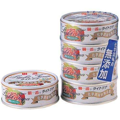 富永貿易 綱一番 まぐろフレーク缶詰 70g 4個