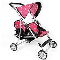 [ニューヨークドールコレクション]The New York Doll Collection My First Doll Twin Stroller Cutest Heart Design Doll Twins Stroller Great Toy [並行輸入品]