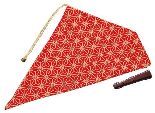 パール金属 my お箸袋 麻の葉 紅 MK-2775
