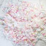 フラワーシャワー 造花 花びら 水色 ピンク 白 フェザーシャワー 約1000枚 羽付 オリジナル 【天然フェザー付+マーメイドMIX3色】