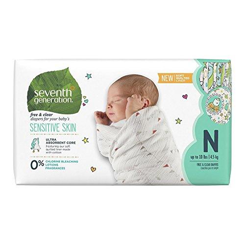 セブンスジェネレーション 無添加 ベビーおむつ (新生児~4.5kg) 36枚