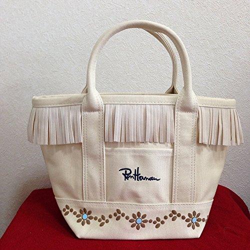 トートバッグロンハーマンフラワースタッズRHCRonHermanレディースバッグ鞄袋つき(ホワイト)[並行輸入品]