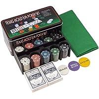 Paraizo みんなで 楽しく ポーカー セット ブラックジャック トランプ 2セット チップ 200枚 マット 付き テキサスホールデム