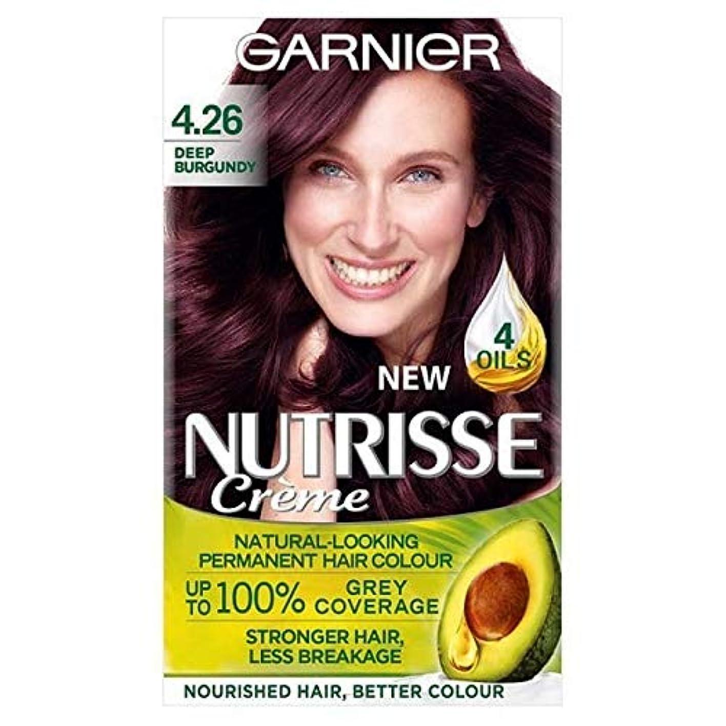 はっきりとはちみつ倍増[Garnier ] 赤ガルニエNutrisseパーマネントヘアダイ深いバーガンディ4.26 - Garnier Nutrisse Permanent Hair Dye Deep Burgundy Red 4.26 [並行輸入品]