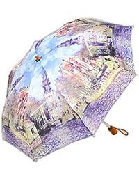 レディース 傘 おしゃれな 名画シリーズ 49cm 折りたたみ傘 モネ 水辺の教会