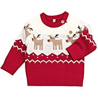 BATHAN Baby Boys Girls Ugly Christmas Sweater Toddlers Deer Pullover Sweatshirt