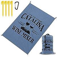 それはファッキンのカタリナワインミキサーです。 レジャー旅行シートピクニックマット防水145×200センチ折りたたみキャンプマット毛布オーニングテントライトと収納が簡単ポータブル巾着