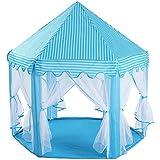 王女の城の六角形のテント、携帯用子供はトートバッグが付いている劇場のテント、子供または子供の屋内および屋外のゲームをする,A