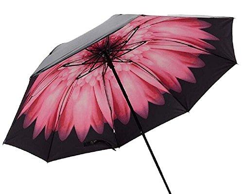 折りたたみ傘 96cm レディース メンズ 大型 軽量 雨傘 uvカット 耐風 撥水 防水 ワンタッチ傘 mk-3 (ピンク2)