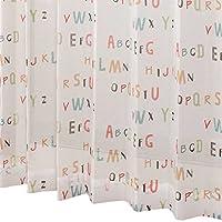 カーテン 【 オーダー 】 ボイルレースカーテン ボイルアルファベット ミックス 幅225cm×丈178cm 1枚入