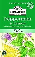 Ahmad Tea - Peppermint & Lemon Tea Infusion 20 Bags - 40g