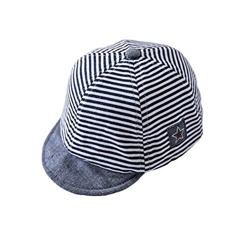 Tortor 1bacha(JP) 帽子 キャスケット バイザー キャップ 赤ちゃん キッズ(kids) 子供帽子 UVカット おしゃれ 日よけ帽子 アウトドア 小顔効果 ストライプ 48㎝ 50㎝ 52㎝ 54㎝  (44)