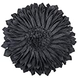 JWH Handmade 3D Flowers Accent Pillows Round Sunflower Cushion Decorative Pillowcases Insert Home Sofa Bed Living Room Decor