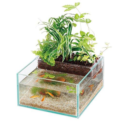アクアテリア N190 メダカ用(ガラス水槽と水耕栽培プランターのセット)【水槽おそうじ手袋プレゼント】