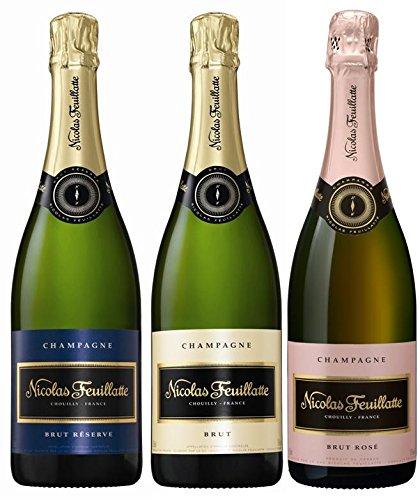 フランスNo.1シャンパン ニコラ・フィアット飲み比べ 750ml×3本セット